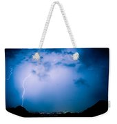 Lightning Rainbow Blues Weekender Tote Bag