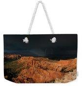 Lightning Rainbow Over Hoodoos Bryce Canyon National Park Utah Weekender Tote Bag