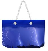 Lightning Storm In The Desert Fine Art Photography Print Weekender Tote Bag