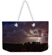 Lightning Stormy Weather Of Sunflowers Weekender Tote Bag