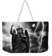 Lightning Strikes The Angel Gabriel Weekender Tote Bag by Amanda Elwell