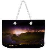 Lightning Thunderstorm Cloud Burst Weekender Tote Bag