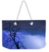Lightning Tree Silhouette 38 Weekender Tote Bag