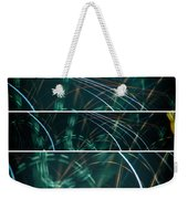 Green Film Grain Lightpainting Abstract Weekender Tote Bag