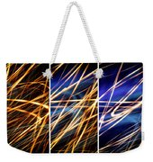 Lightpainting Triptych Wall Art Print Photograph 6 Weekender Tote Bag
