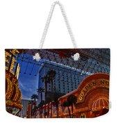 Lights In Down Town Las Vegas Weekender Tote Bag