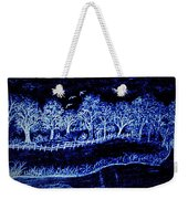 Lights On The Farm's Pond At Night Weekender Tote Bag