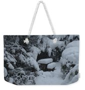 A Snowy Secret Garden Weekender Tote Bag