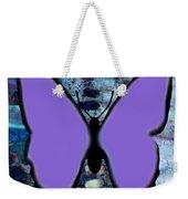 Lila Papillon Weekender Tote Bag