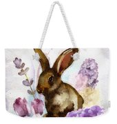 Lilac And Bunny Weekender Tote Bag