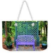Lilac And Teal Garden Weekender Tote Bag