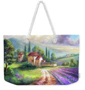 Lilac Fields In The Italian Countryside   Weekender Tote Bag