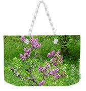 Lilac In The Spring Meadow Weekender Tote Bag