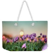 Lilac Poppy Flowers Weekender Tote Bag