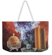 Lilacs And Candles Weekender Tote Bag