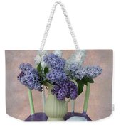 Lilacs With Chair And Shell Weekender Tote Bag