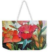 Lilies And Hummingbird Weekender Tote Bag