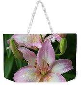 Lilies And Raindrops Weekender Tote Bag