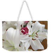 Lilies And Roses Weekender Tote Bag