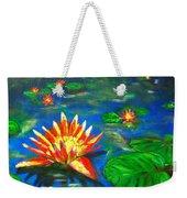 Lilies By The Pond Weekender Tote Bag