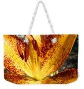 Lilies Glowing Orange Lily Flower Floral Art Print Canvas Baslee Troutman Weekender Tote Bag
