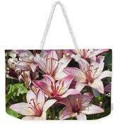 Lilies In Pink Weekender Tote Bag