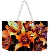 Lilies In The Shadow Weekender Tote Bag