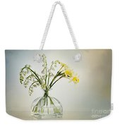 Lilies Of The Valley In A Glass Vase Weekender Tote Bag