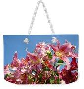 Lilies Pink Lily Flowers Art Prints Floral Summer Garden Baslee Troutman Weekender Tote Bag