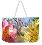 Lilies Pink Yellow Lily Flowers Canvas Art Prints Baslee Troutman Weekender Tote Bag