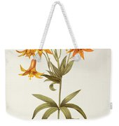 Lilium Penduliflorum Weekender Tote Bag by Pierre Joseph Redoute