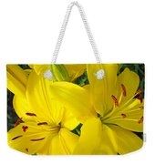 Lilly Flowers Art Prints Yellow Lilies Floral Baslee Troutman Weekender Tote Bag