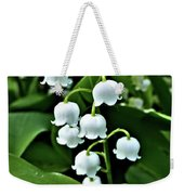 Lilly Of The Valley Flowers Weekender Tote Bag by Jeremy Hayden