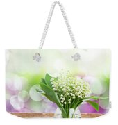 Lilly Of Valley Posy In Glass Weekender Tote Bag