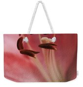 Lilly Pink Craquelure Weekender Tote Bag