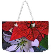 Lily And His Poinsetta Weekender Tote Bag