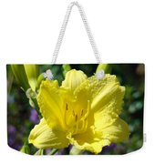 Lily Flower Art Print Canvas Yellow Lilies Baslee Troutman Weekender Tote Bag