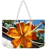 Lily Flower Artwork Orange Lilies 3 Giclee Art Prints Baslee Troutman Weekender Tote Bag