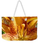 Lily Flower Macro Orange Lilies Floral Art Print Baslee Troutman Weekender Tote Bag