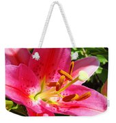Lily Flower Pink Lilies Giclee Art Prints Baslee Troutman Weekender Tote Bag