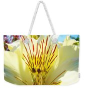 Lily Flowers Art Prints Yellow Lillies 2 Giclee Prints Baslee Troutman Weekender Tote Bag