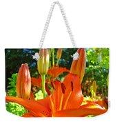 Lily Flowers Garden Art Prints Orange Lilies Floral Baslee Troutman Weekender Tote Bag
