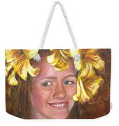Lily Girl Weekender Tote Bag