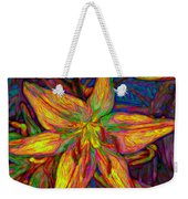 Lily In Abstract Weekender Tote Bag