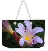 Lily In The Rain By Flower Photographer David Perry Lawrence Weekender Tote Bag