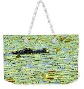 Lily Pad Gator Weekender Tote Bag