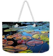 Lily Pads At Sunset Weekender Tote Bag