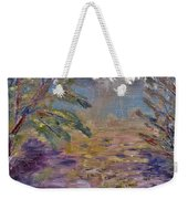Lily Pads On A Pond, Overcast Sky 3pm Weekender Tote Bag