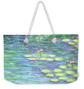 Lily Pads Triptych Panel Three Of Three Weekender Tote Bag