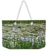 Lily Pond Panorama Weekender Tote Bag